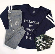 """I'd Rather Be With My Dog"" Varsity Raglan-T-shirt-Style Trolley"