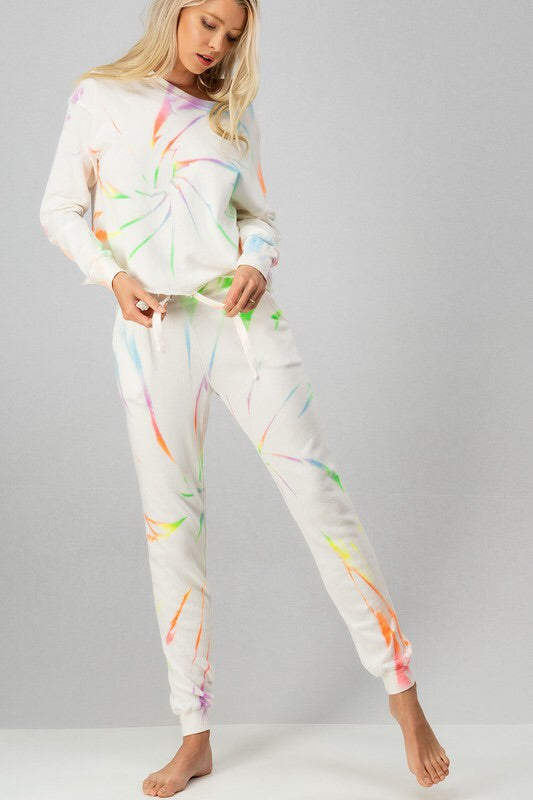 Neon Swirl Sweatpants-Loungewear-Style Trolley