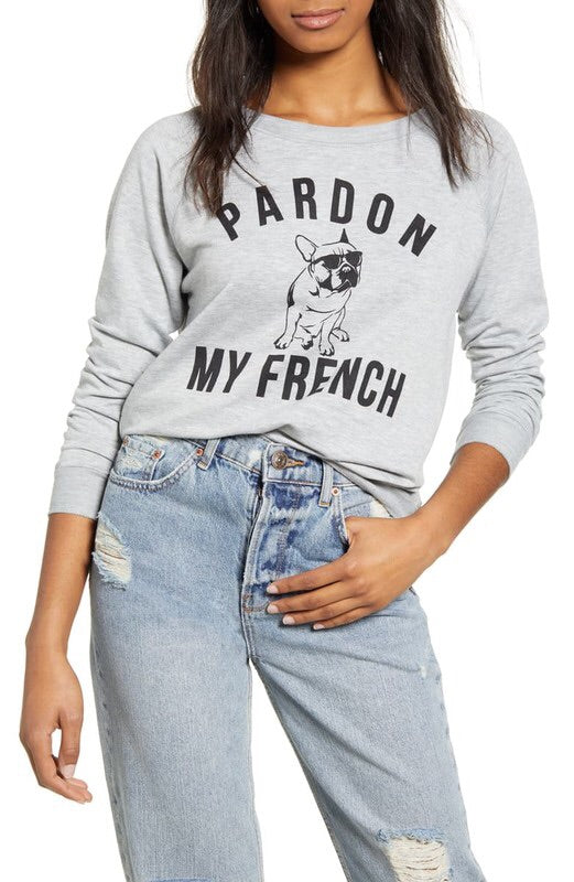 """Pardon My French"" Long Sleeve Top-Style Trolley"