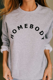 HOMEBODY Crewneck Sweatshirt-Sweatshirt-Style Trolley