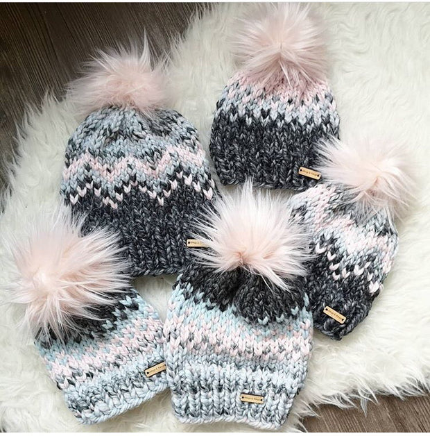 The Tia Hand Knit Pom Beanie-Hat-Style Trolley