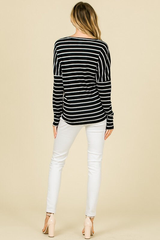 The Samantha Striped Tee-Top-Style Trolley