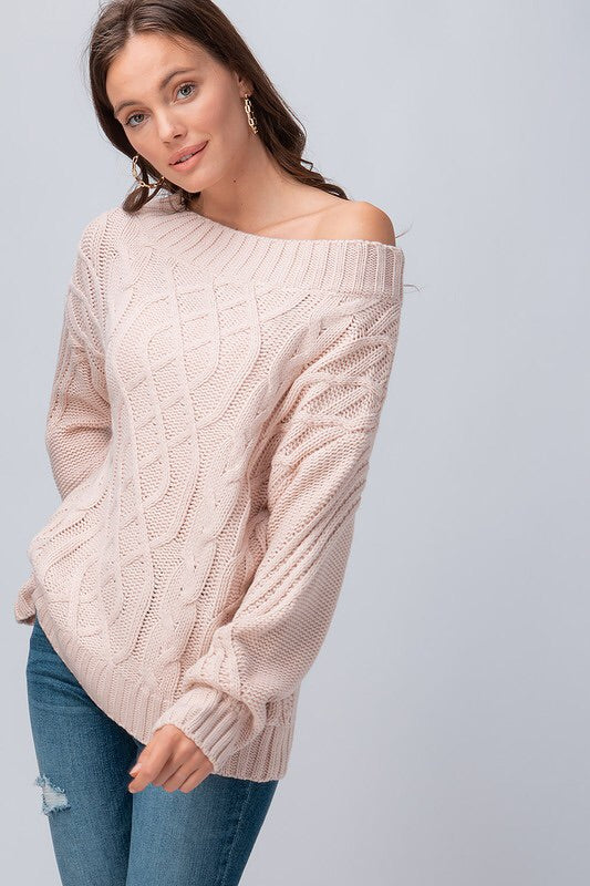 The Cortne Cableknit Sweater