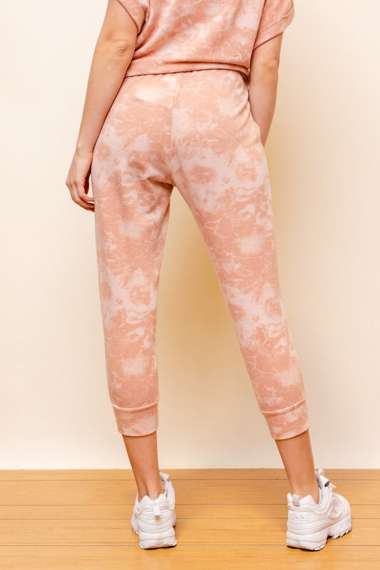 Peach Tie Dye Loungewear Set-Style Trolley