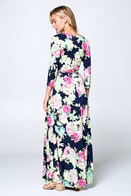 Grace Faux Wrap Maxi-Dress-Style Trolley