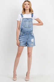 The Izzy Distressed Denim Overall Shorts-Overalls-Style Trolley