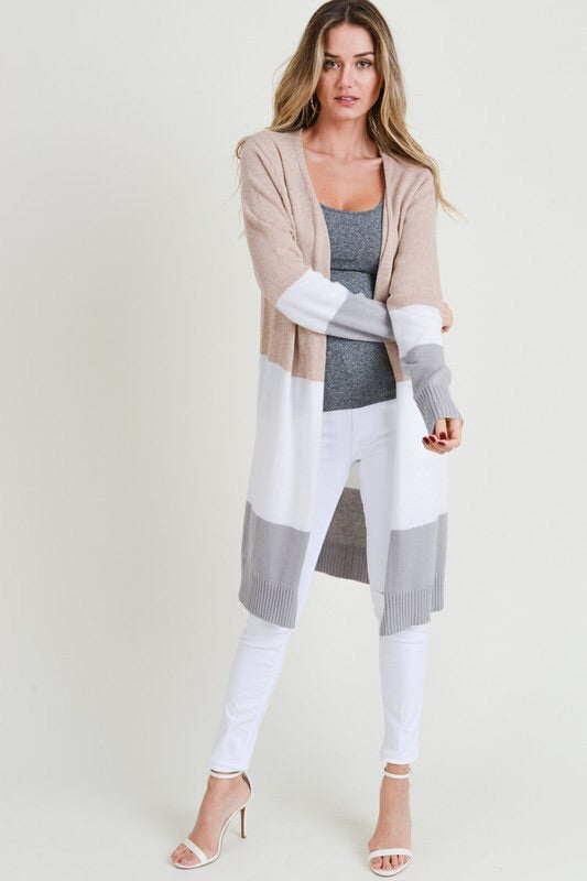 The Jill Colorblock Cardigan-Sweater-Style Trolley