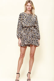 The Layla Leopard Print Ruffle Dress-Dress-Style Trolley