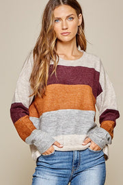Autumn Color-block Sweater
