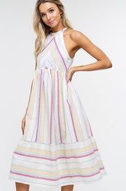Striped halter midi-Style Trolley