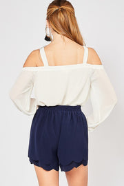 The Bri Scalloped Shorts-Shorts-Style Trolley