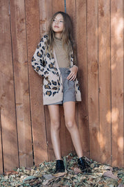 Leopard Print Cardigan (Girl's)-Sweater-Style Trolley