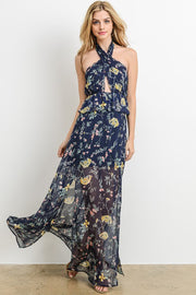 Julia Floral Halter Maxi-Dress-Style Trolley