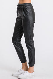 Taylor Faux Leather Joggers