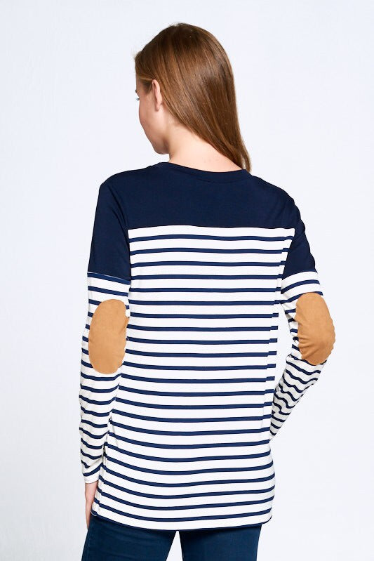 Lori Striped Knit Top-Top-Style Trolley