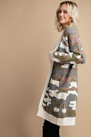 The Bonnie Camo Print Cardigan-Sweater-Style Trolley