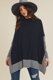 Oversized Cape Sweater-Poncho-Style Trolley