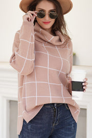Windowpane Plaid Sweater