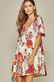 Floral Swing Dress-Style Trolley