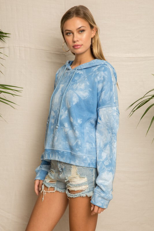 Cobalt Tie Dye French Terry Hoodie-Sweatshirt-Style Trolley
