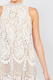 Whitney Sleeveless Lace Dress-Dress-Style Trolley