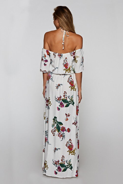 Halter Tie Neck Maxi-Dress-Style Trolley