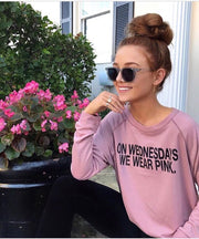 """On Wednesday We Wear Pink"" Sweatshirt-Sweatshirt-Style Trolley"