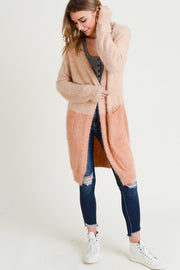 Cydney Colorblock Cardigan-Sweater-Style Trolley