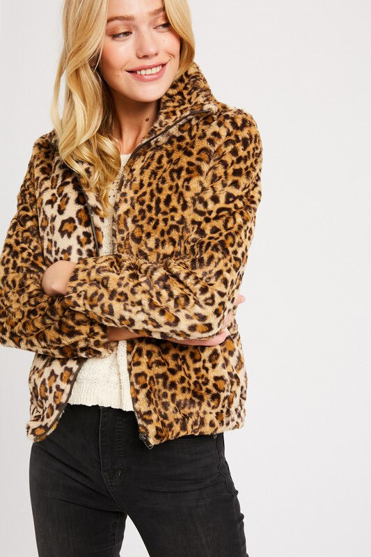 The Gwen Faux Fur Jacket-Jacket-Style Trolley