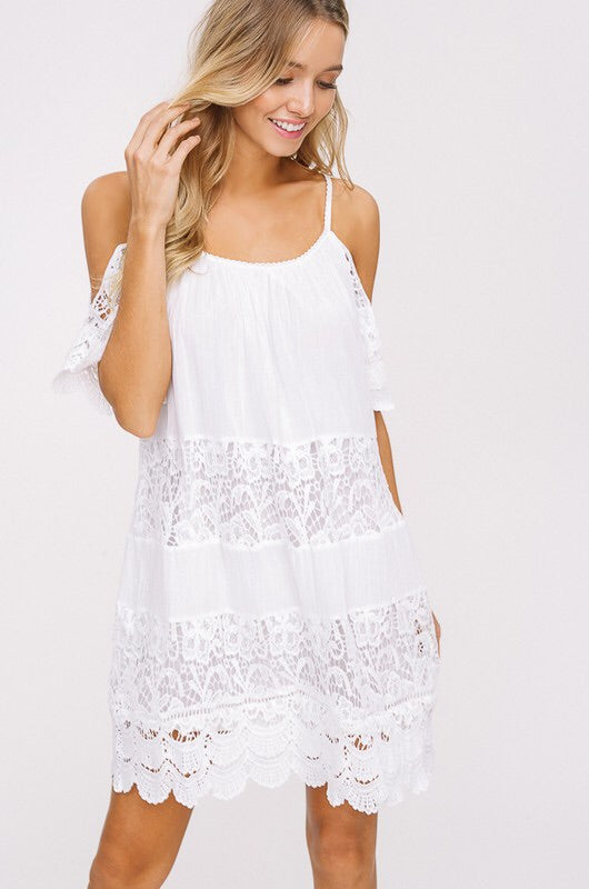 Winkie Cold Shoulder Sundress-Dress-Style Trolley