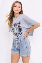 Good Vibes Tiger Graphic Tee-T-shirt-Style Trolley