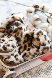 Leopard Print Fuzzy Slippers