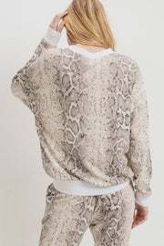 Snake Print Mini Thermal Top-Top-Style Trolley