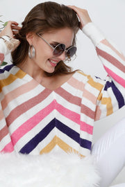 Chelsey Chevron Sweater-Sweater-Style Trolley
