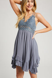 Scalloped Lace Bralette Dress-Dress-Style Trolley