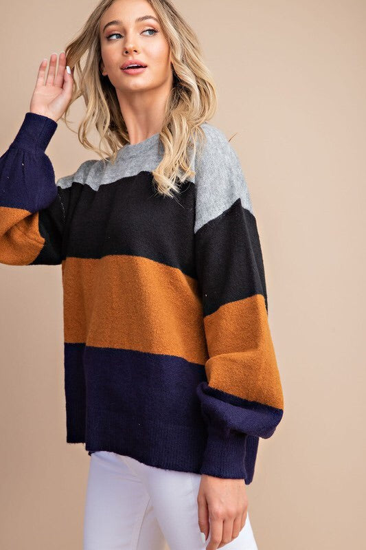 The Kimberly Color Block Sweater-Sweater-Style Trolley