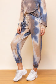 Brown Blue Tie Dye Set-Style Trolley
