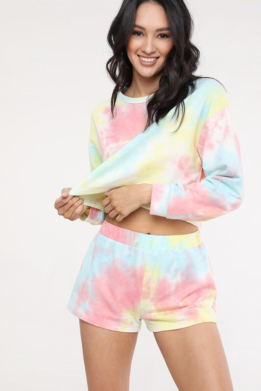 Sylvie Tie Dye Shorts Set-Loungewear-Style Trolley