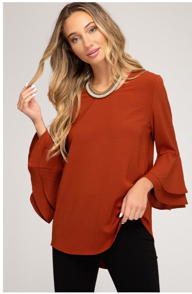 Clara Bell Sleeve Blouse-Top-Style Trolley