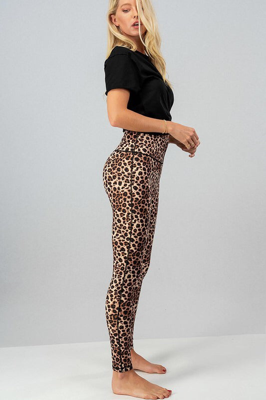 Leopard Print High Waisted Leggings-Style Trolley