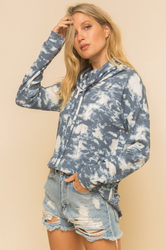 Ingrid Tie Dye Cowl Neck Top-Loungewear-Style Trolley
