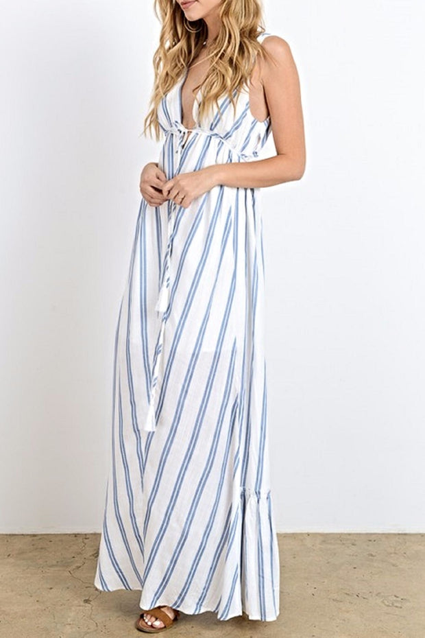 The Annabelle Striped Maxi Dress-Dress-Style Trolley