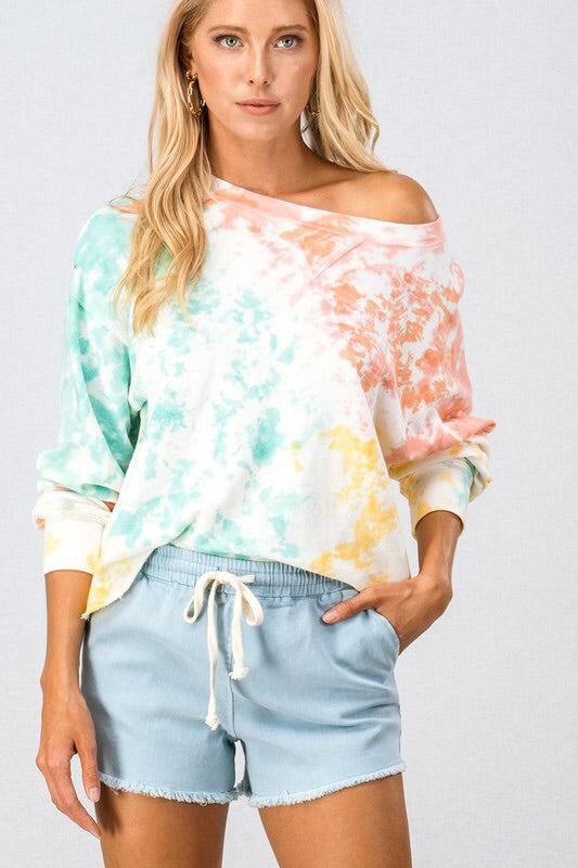 Hannah Drop Shoulder Crop Sweatshirt-Style Trolley