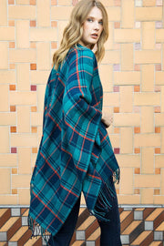 The Mara Plaid Ruana-Poncho-Style Trolley