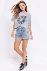Tiger Graphic Tee-T-shirt-Style Trolley