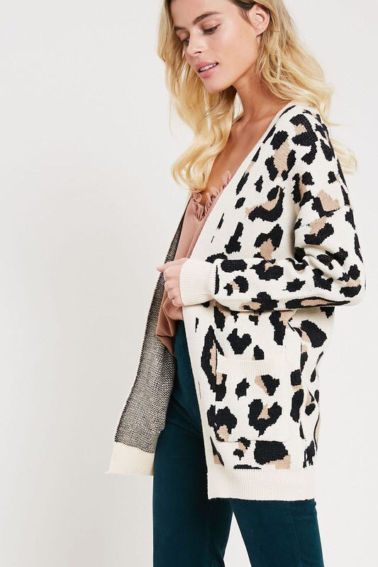 The Jessica Leopard Print Cardigan-Sweater-Style Trolley