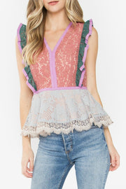 The Sasha Peplum Lace Top-Top-Style Trolley