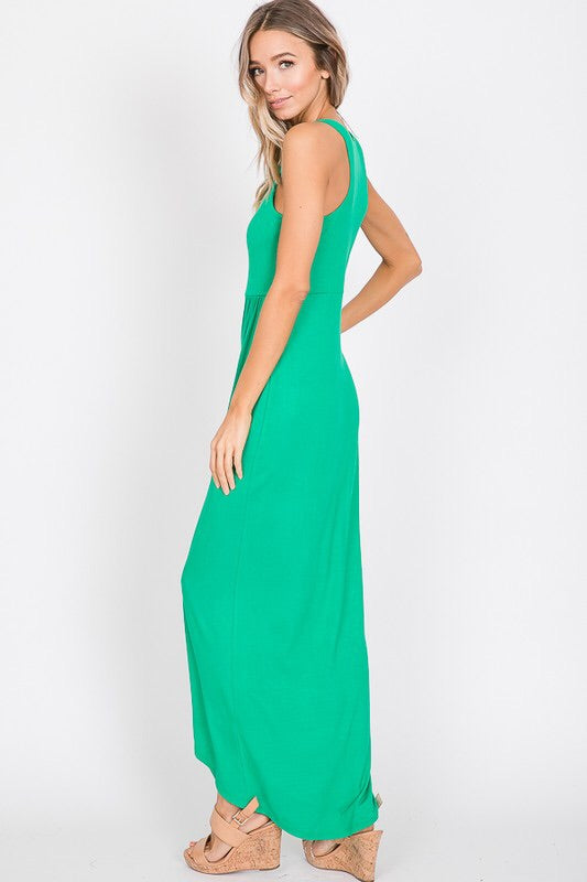 The Sarah Sleeveless Wrap Dress-Dress-Style Trolley