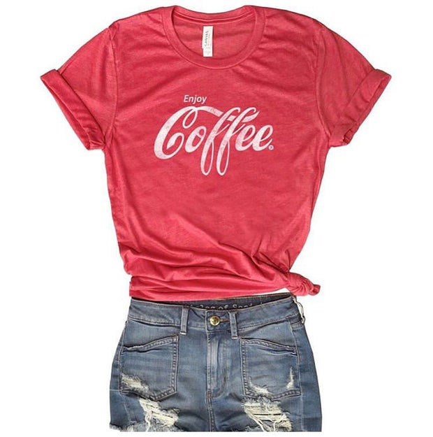 Enjoy Coffee Tee-T-shirt-Style Trolley