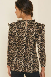 The Beverly Leopard Ruffle Top-Top-Style Trolley